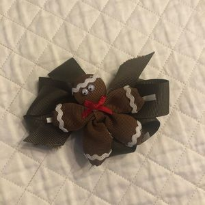 2 brown bows for 1 price gingerbread clips on bow